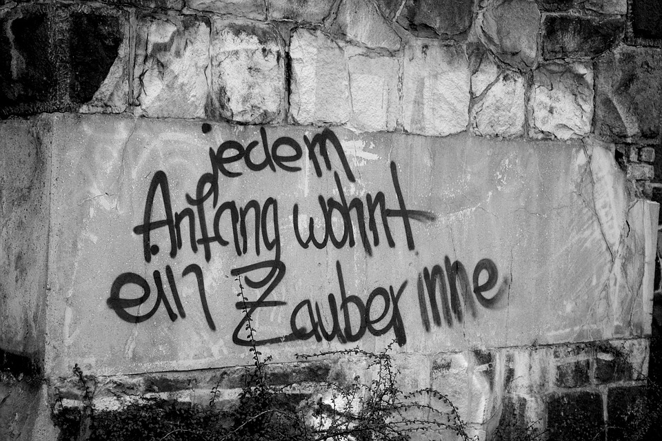 Graffiti Liebesspruch. Englisch Spruch Liebe